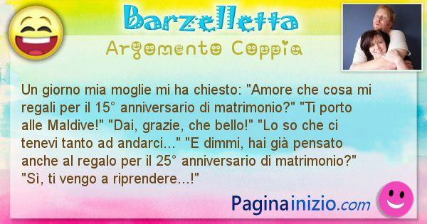 Anniversario Di Matrimonio Barzellette.Barzelletta Argomento Coppia