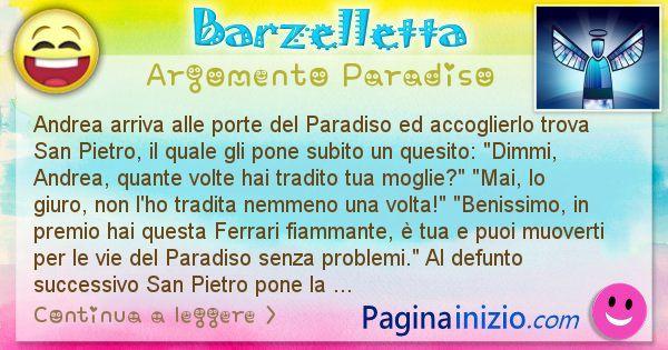 Barzelletta argomento Paradiso