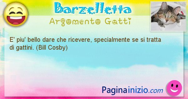 Barzelletta argomento Gatti