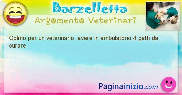Colmo argomento Veterinari: Colmo per un veterinario: avere in ambulatorio 4 gatti da ... (id=1625)