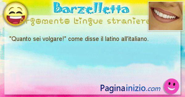 Barzelletta argomento Lingue straniere