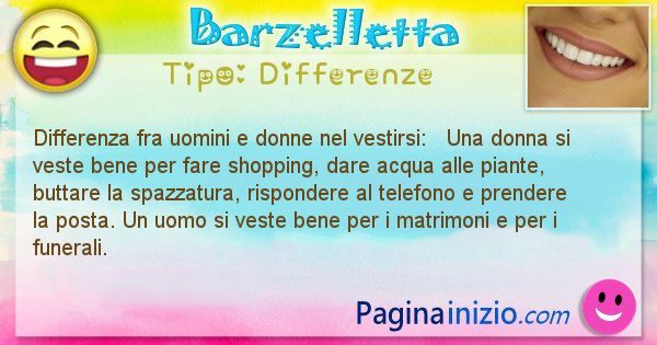 Differenze: Differenza fra uomini e donne nel vestirsi: ... (id=1448)