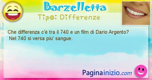 Differenze: Che differenza c'è tra il 740 e un film di Dario ... (id=1470)