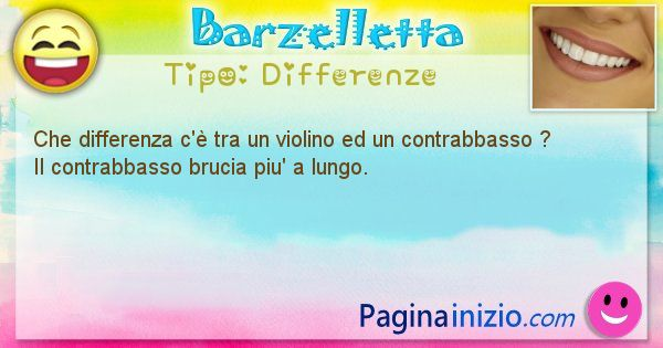 Differenze: Che differenza c'è tra un violino ed un contrabbasso ... (id=1472)