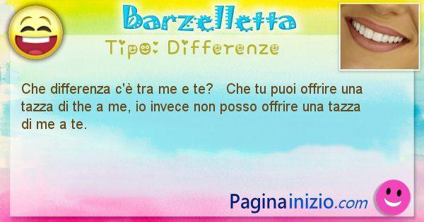 Differenze: Che differenza c'è tra me e te?   Che tu puoi ... (id=1479)