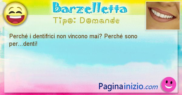 Barzelletta categoria Domande