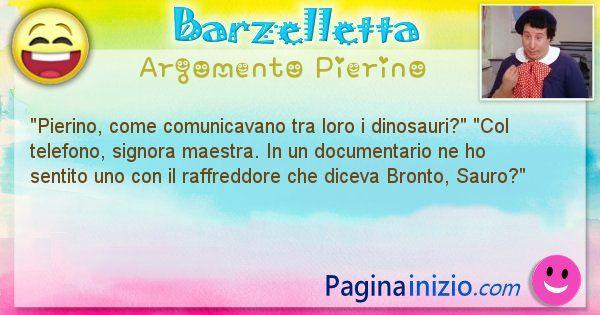 Barzelletta argomento Pierino: Pierino, come comunicavano tra loro i ... (id=2343)