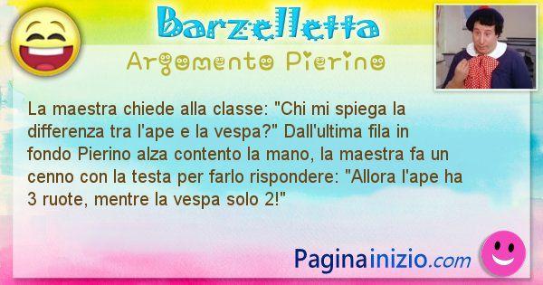 Barzelletta argomento Pierino: La maestra chiede alla classe: Chi mi spiega la ... (id=2842)