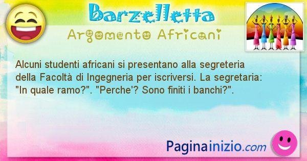 Barzelletta argomento Africani
