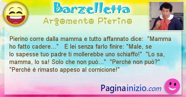 Barzelletta argomento Pierino: Pierino corre dalla mamma e tutto affannato dice: ... (id=904)