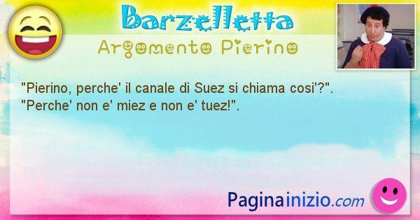 Barzelletta argomento Pierino: Pierino, perche' il canale di Suez si chiama ... (id=935)