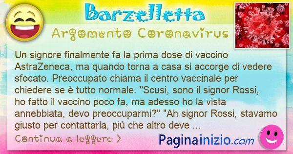 Barzelletta argomento Coronavirus: Un signore finalmente fa la prima dose di vaccino ... (id=3112)