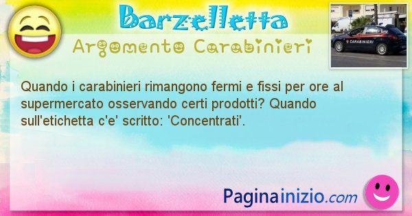 Barzelletta argomento Carabinieri: Quando i carabinieri rimangono fermi e fissi per ore al ... (id=1855)