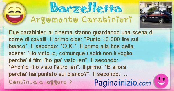 Barzelletta argomento Carabinieri: Due carabinieri al cinema stanno guardando una scena di ... (id=1887)