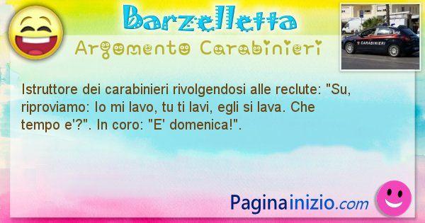 Barzelletta argomento Carabinieri: Istruttore dei carabinieri rivolgendosi alle reclute: ... (id=1895)