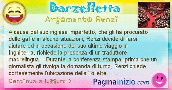 Barzelletta argomento Renzi