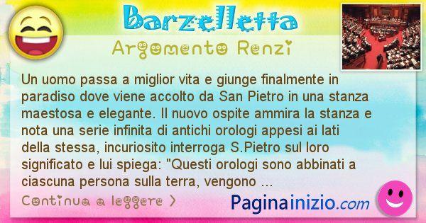 Barzelletta argomento Renzi: Un uomo passa a miglior vita e giunge finalmente in ... (id=2448)