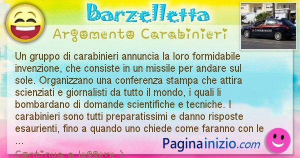 Barzelletta argomento Carabinieri: Un gruppo di carabinieri annuncia la loro formidabile ... (id=2459)