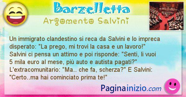 Barzelletta argomento Salvini