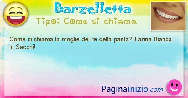 Barzelletta categoria Come si chiama