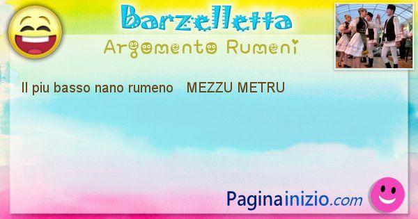 Come si chiama argomento Rumeni: Il piu basso nano rumeno   MEZZU METRU (id=417)