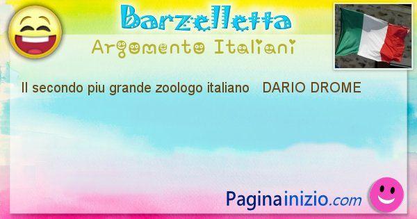 Come si chiama argomento Italiani: Il secondo piu grande zoologo italiano   DARIO ... (id=489)