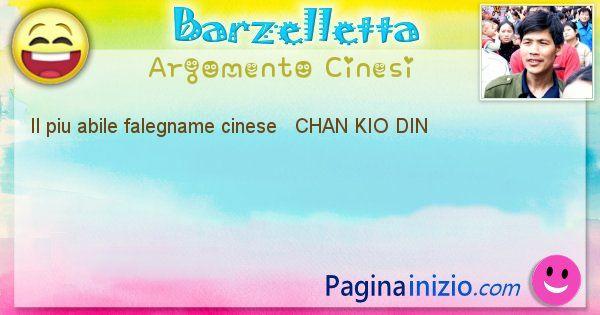 Come si chiama argomento Cinesi: Il piu abile falegname cinese   CHAN KIO DIN (id=513)