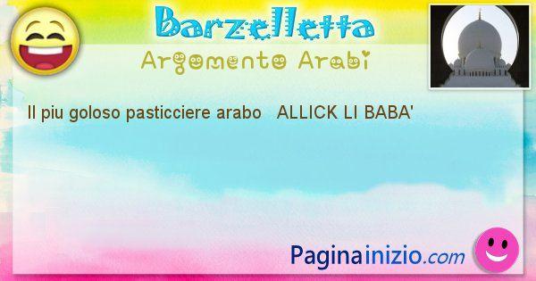 Come si chiama argomento Arabi: Il piu goloso pasticciere arabo   ALLICK LI ... (id=521)
