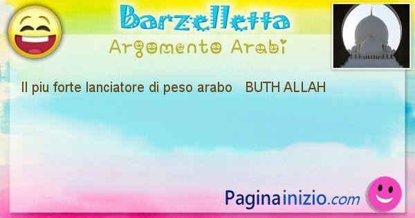 Come si chiama argomento Arabi: Il piu forte lanciatore di peso arabo   BUTH ... (id=525)
