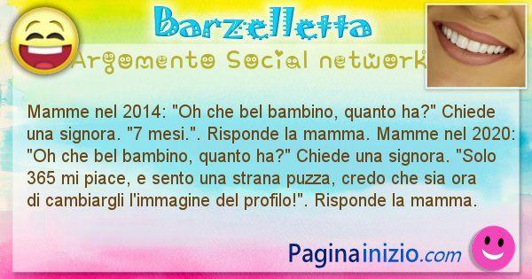 Barzelletta argomento Social network
