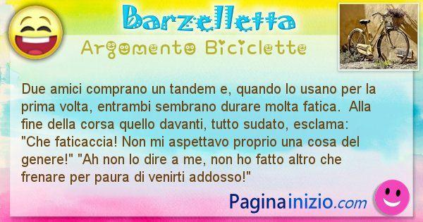 Barzelletta argomento Biciclette