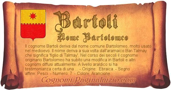 Nome Bartoli