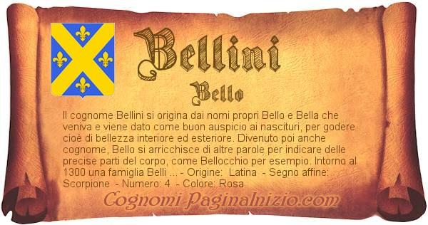 Nome Bellini