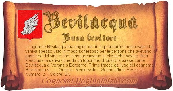 Nome Bevilacqua