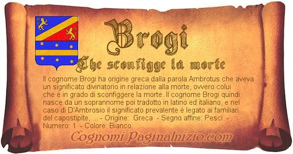 Nome Brogi