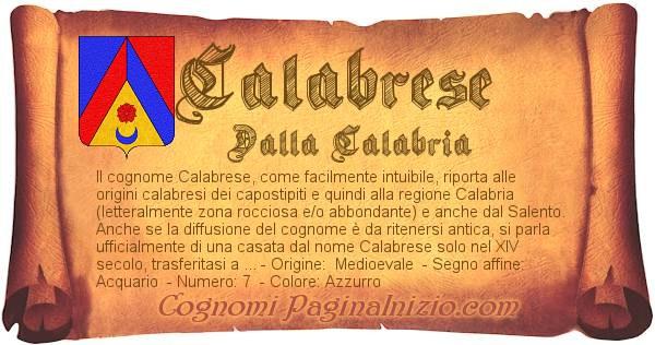 Nome Calabrese