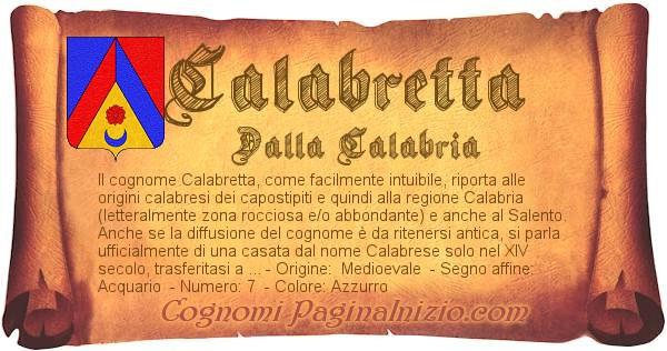 Nome Calabretta