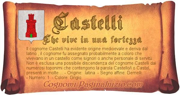 Nome Castelli