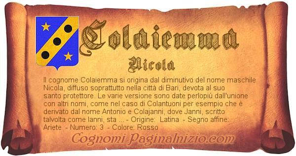 Nome Colaiemma