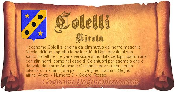 Nome Colelli
