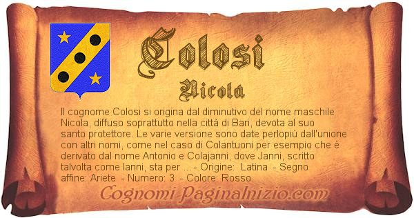 Nome Colosi