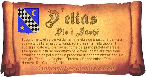 Nome D'elias