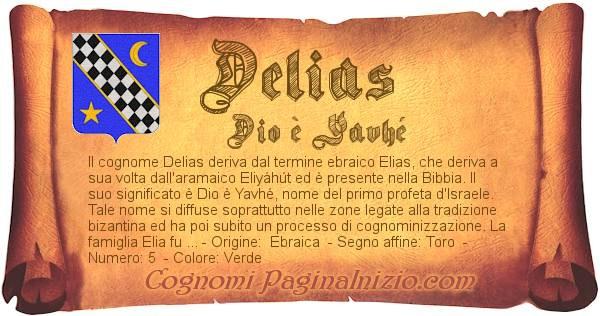 Nome Delias