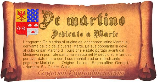 Nome De martino