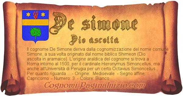 Nome De simone