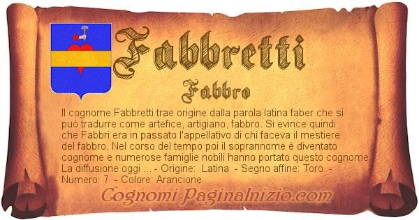 Nome Fabbretti