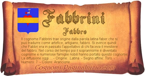 Nome Fabbrini