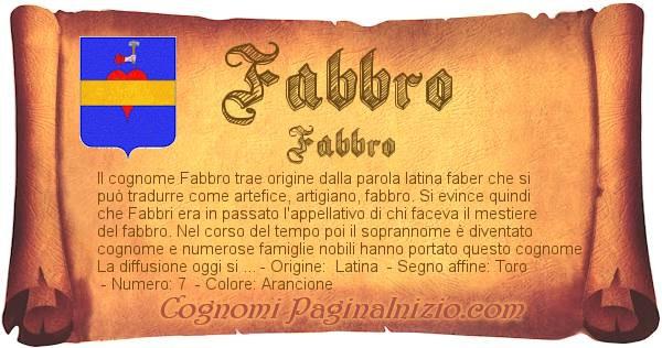 Nome Fabbro