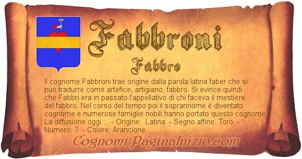 Nome Fabbroni