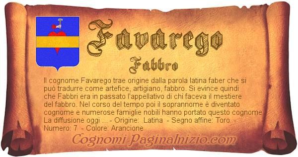 Nome Favarego